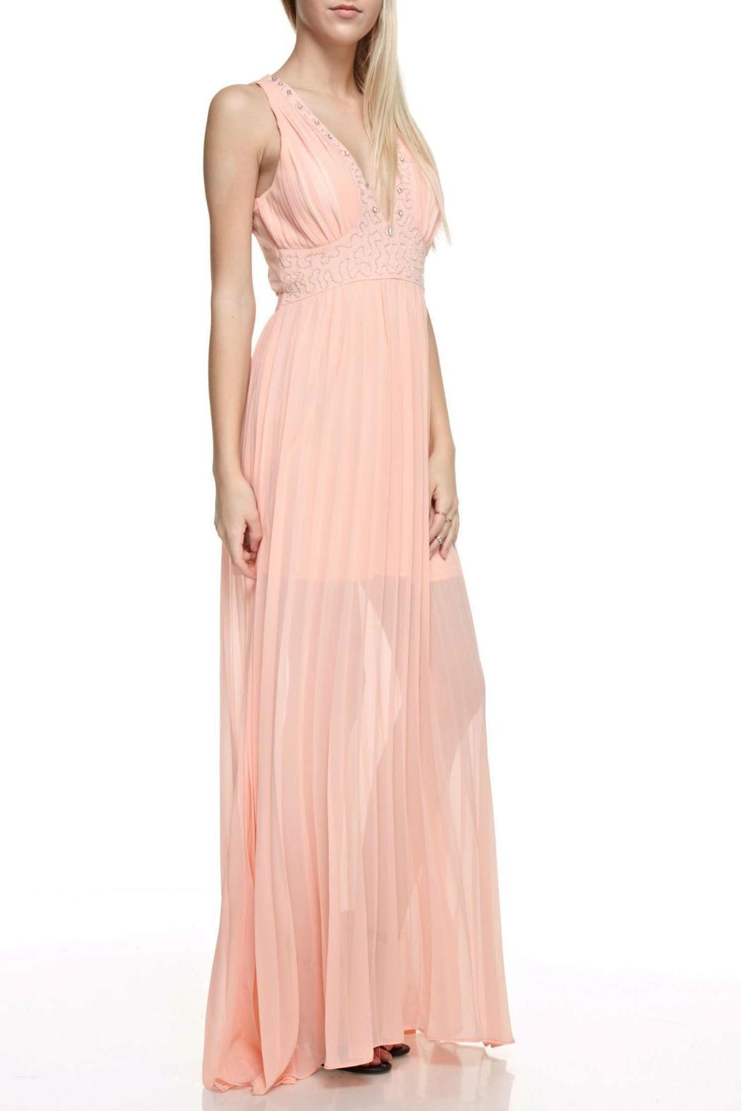 The Clothing Co Embellished Maxi Dress - Back Cropped Image