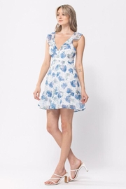 The Clothing Co Floral Print Short Dress - Product Mini Image