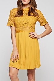 The Clothing Co Gorgeous Mustard Dress - Front full body