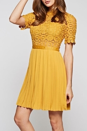 The Clothing Co Gorgeous Mustard Dress - Front cropped