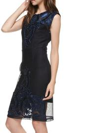 The Clothing Co Victorian Embroidered Lbd - Back cropped