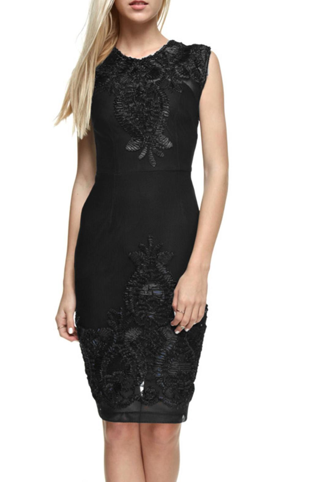 The Clothing Co Victorian Embroidered Lbd - Main Image