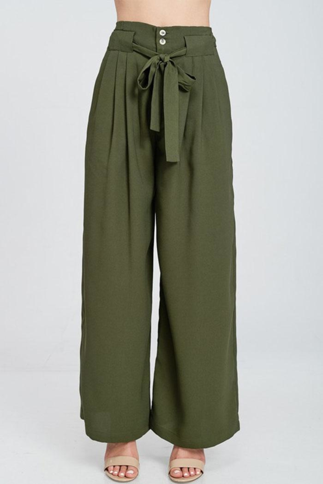 The Clothing Co High Waist Pants - Front Full Image