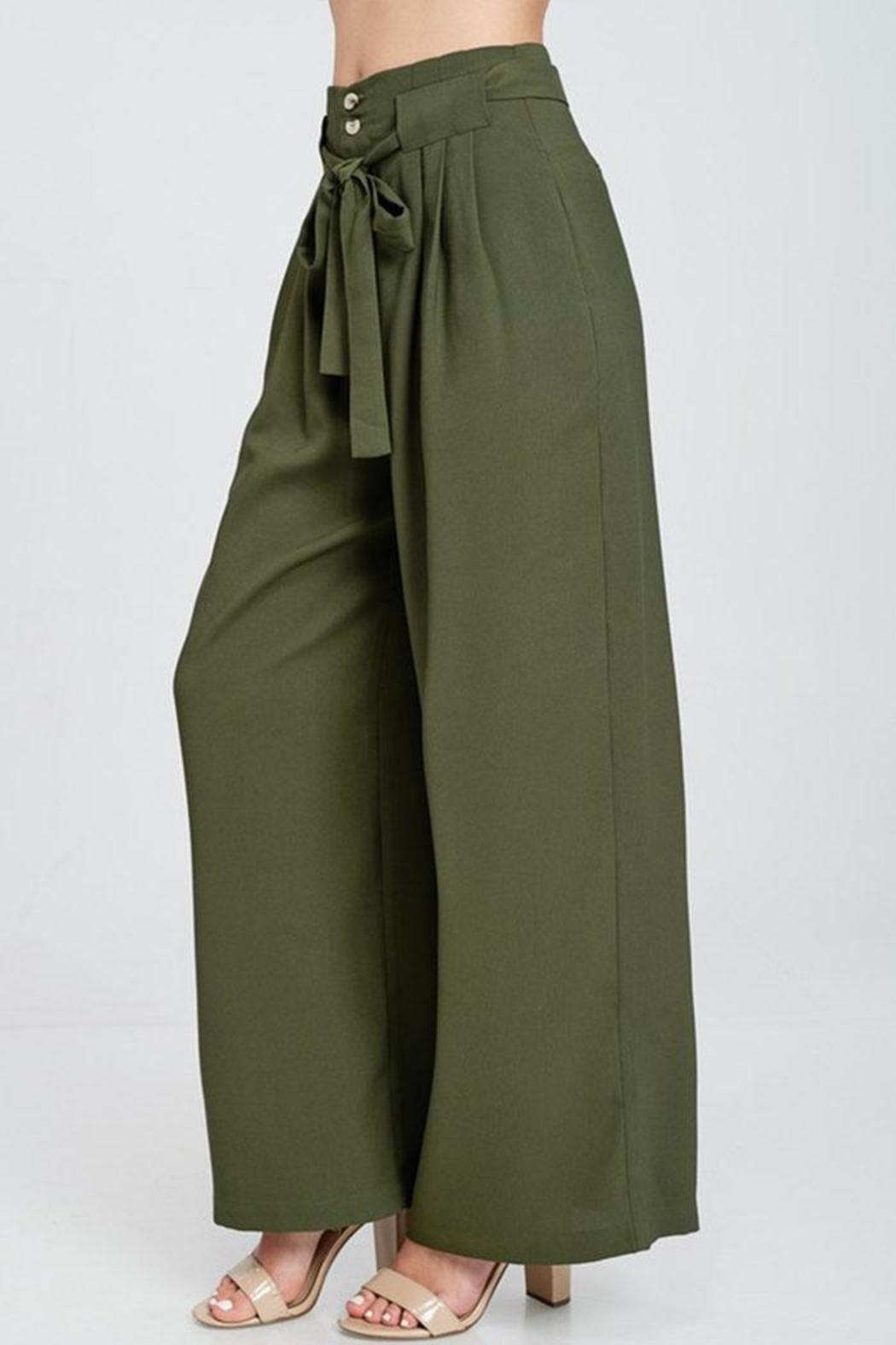 The Clothing Co High Waist Pants - Side Cropped Image
