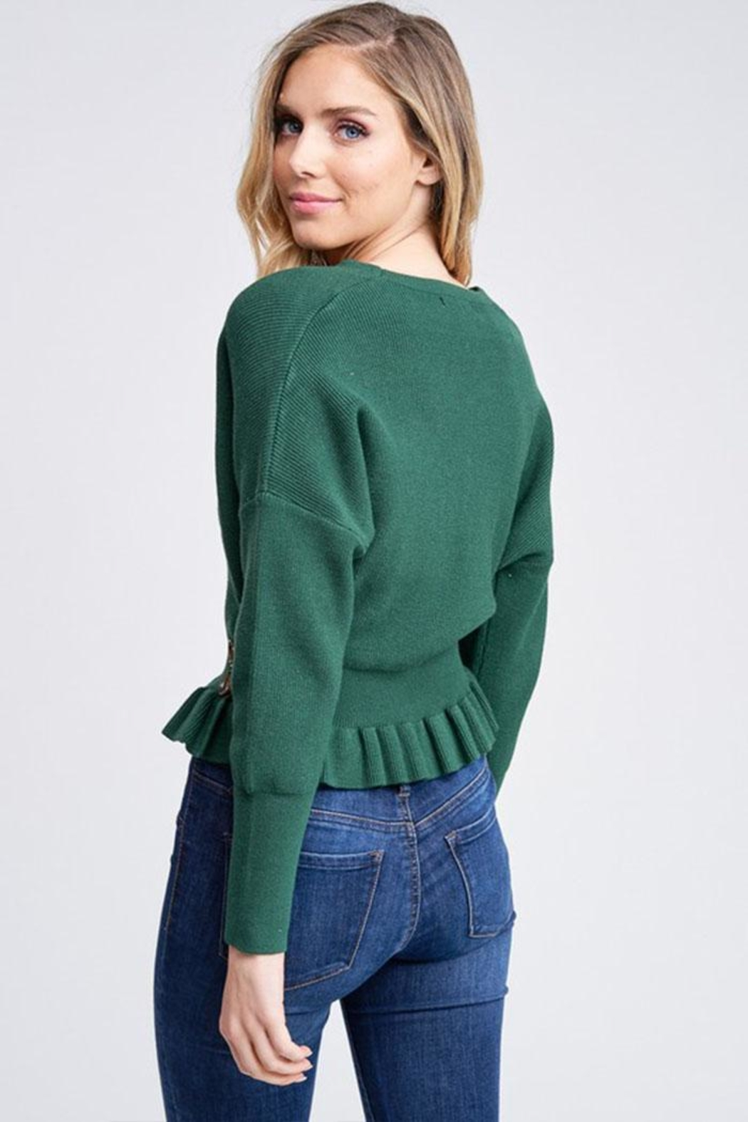 The Clothing Co Knit Sweater Top - Back Cropped Image