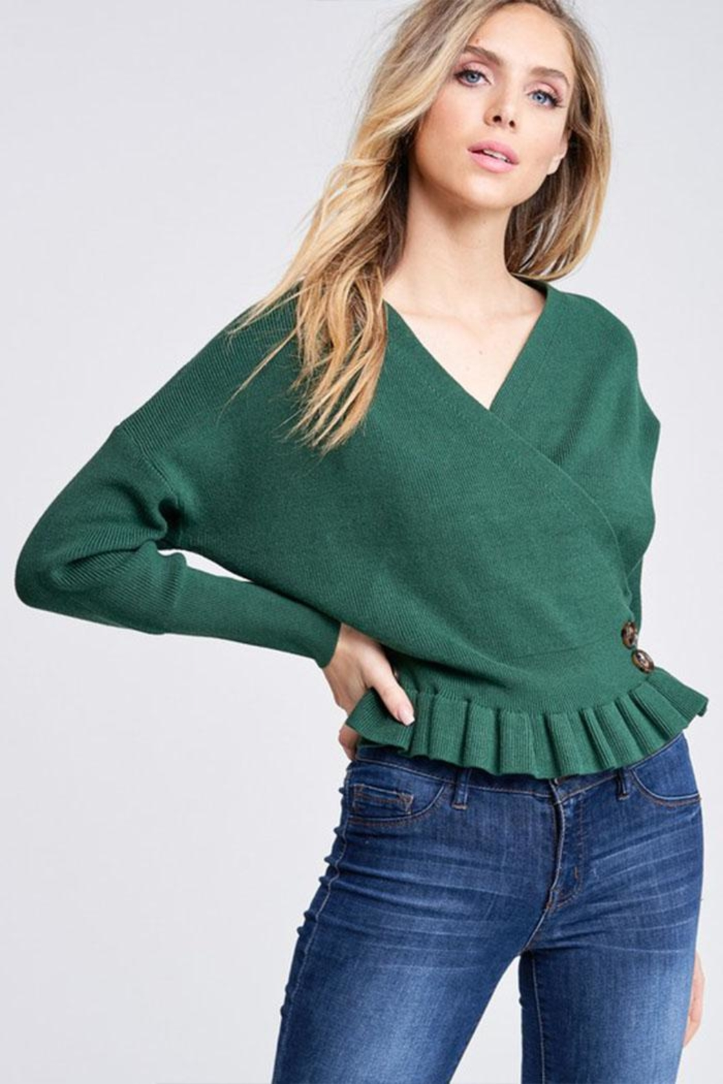 The Clothing Co Knit Sweater Top - Front Full Image