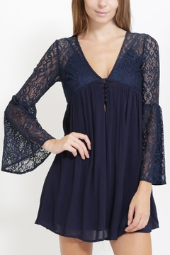 The Clothing Co Lacey Bell Sleeve Dress - Product List Image