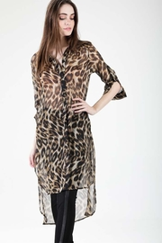 The Clothing Co Leopard Print Tunic - Product Mini Image