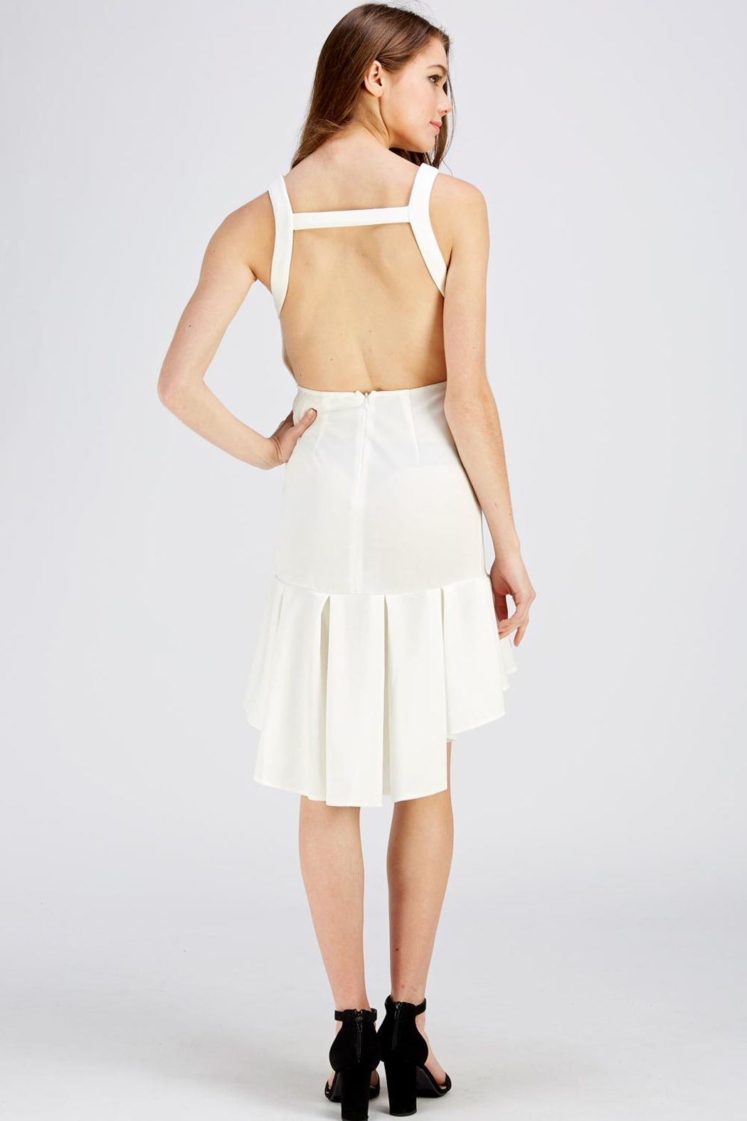 The Clothing Co Open Back Dress - Back Cropped Image