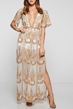 The Clothing Co Overlay Maxi Romper - Product List Image