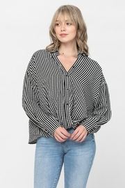 The Clothing Co Oversized Button Shirt - Front full body