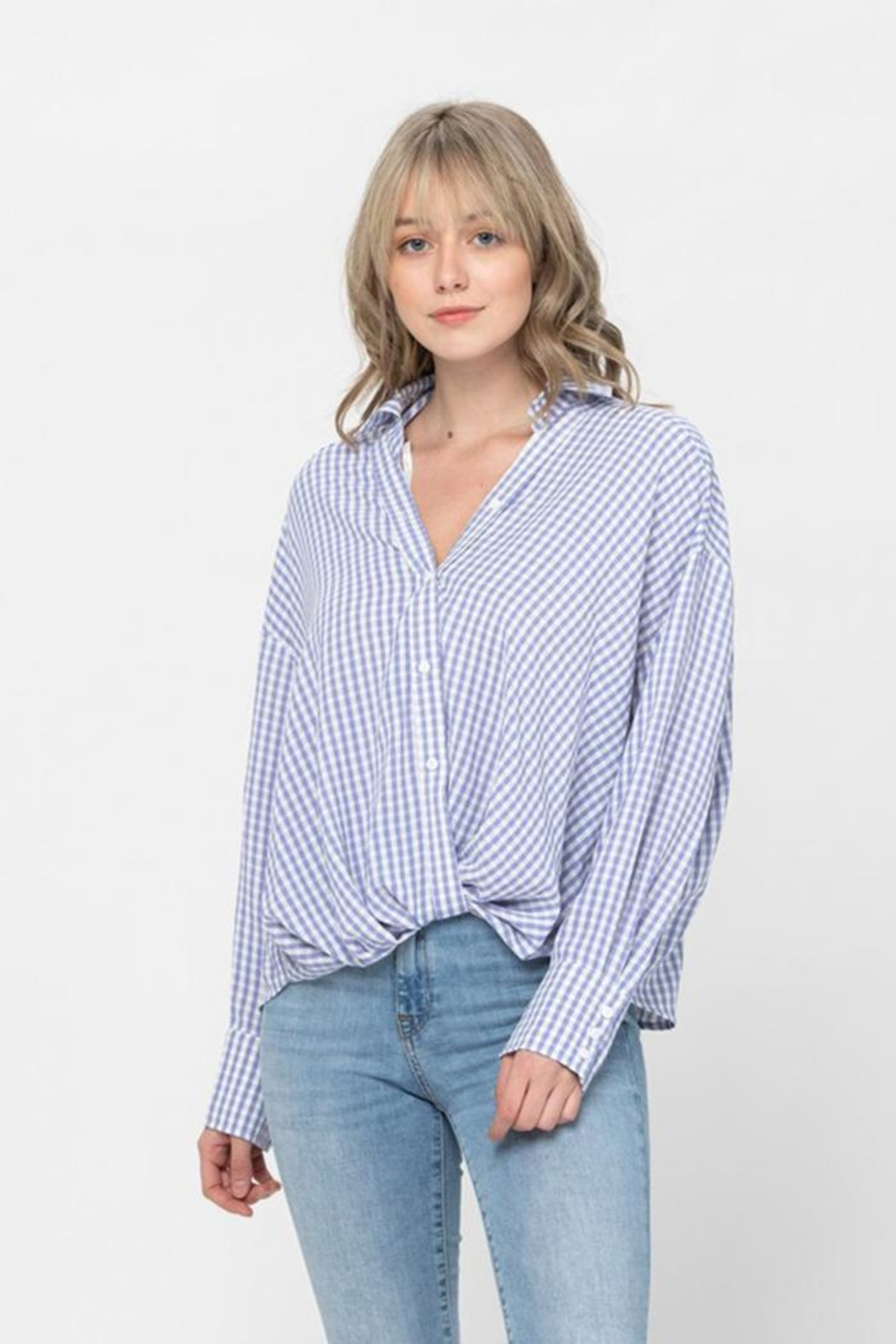 The Clothing Co Oversized Button Shirt - Back Cropped Image