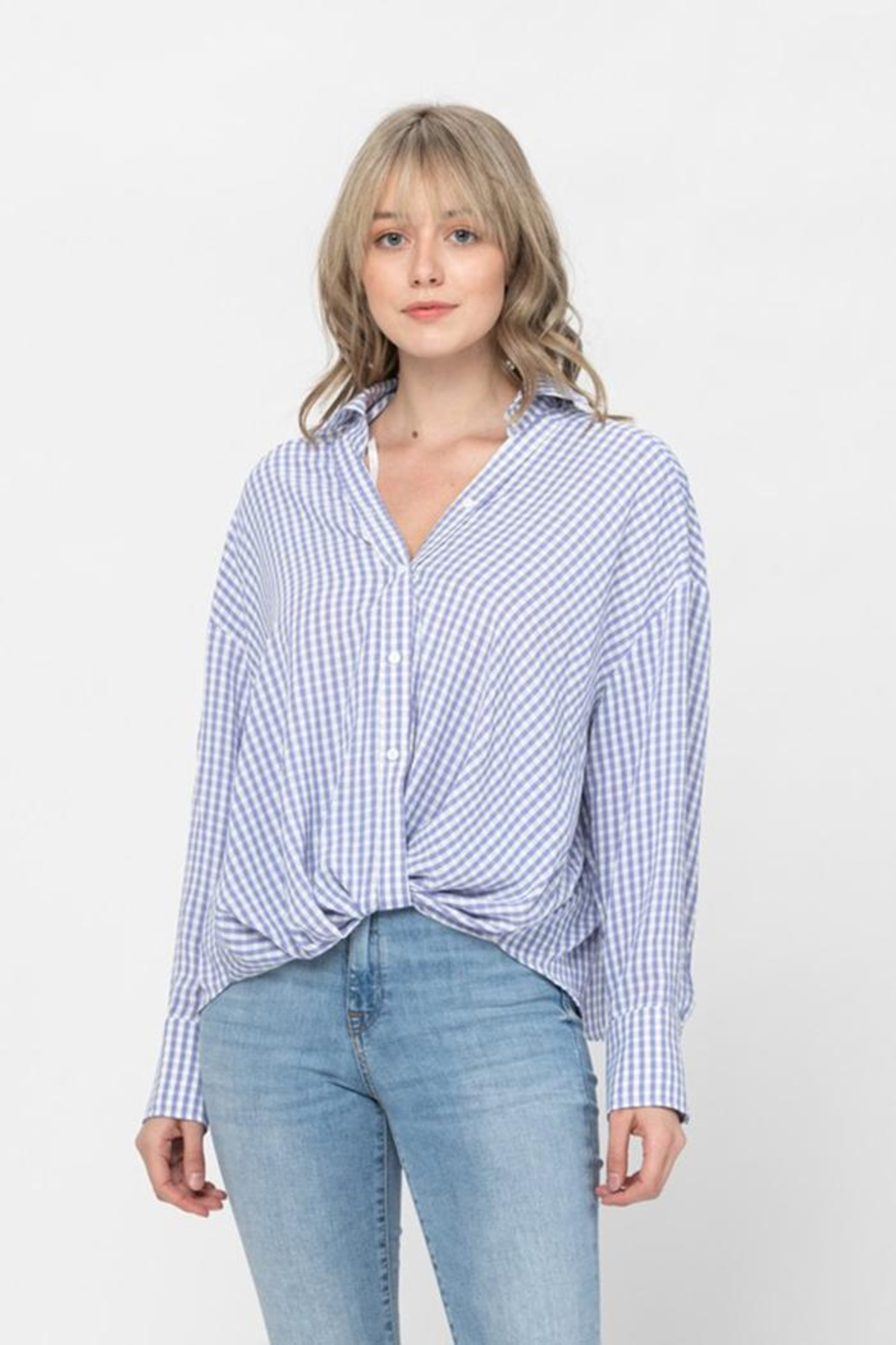 The Clothing Co Oversized Button Shirt - Main Image