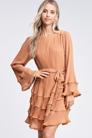 The Clothing Co Pleated Ruffle Dress - Product Mini Image