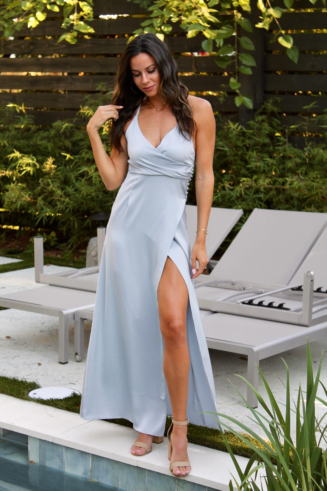 The Clothing Co Riviera Overwrap Maxi - Main Image