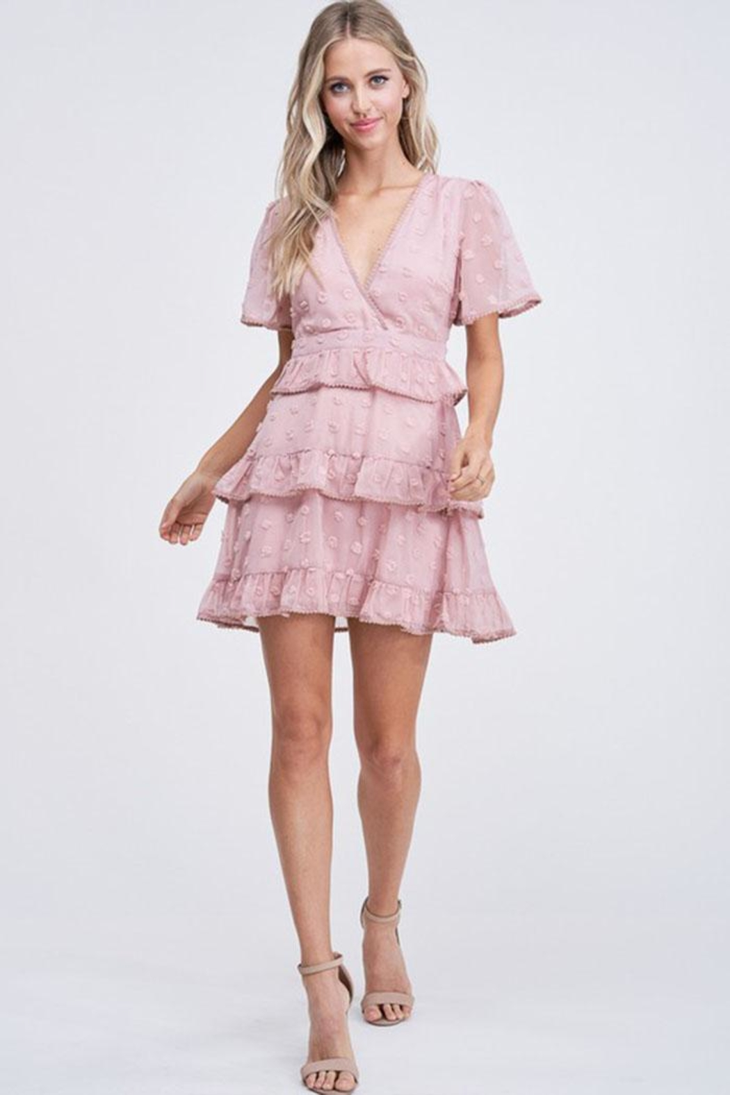 The Clothing Co Ruffle Dot Dress - Main Image