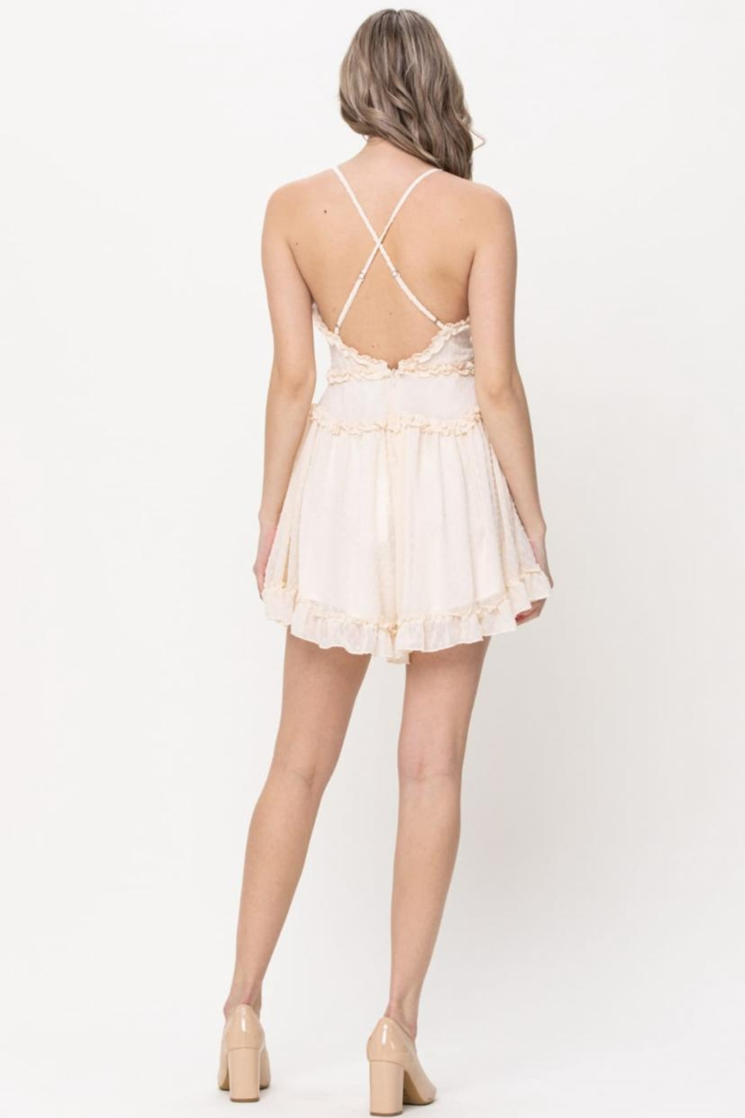 The Clothing Co Ruffle Trim Romper - Front Full Image