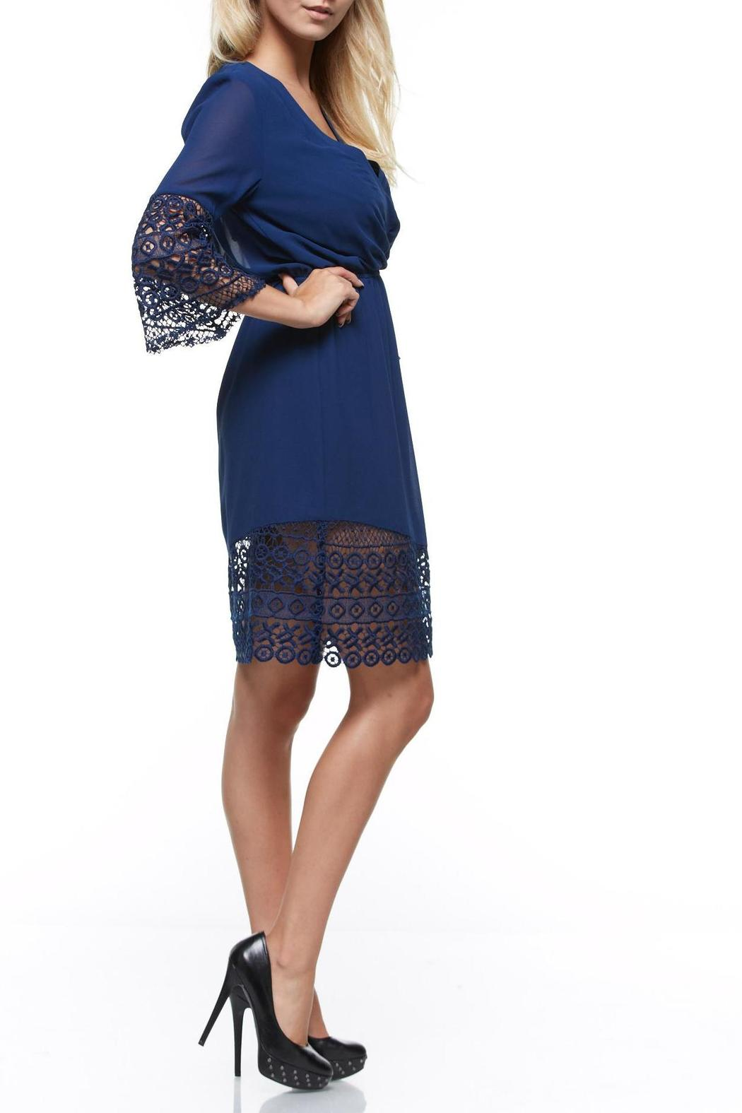 The Clothing Co Short Blue Dress - Front Full Image