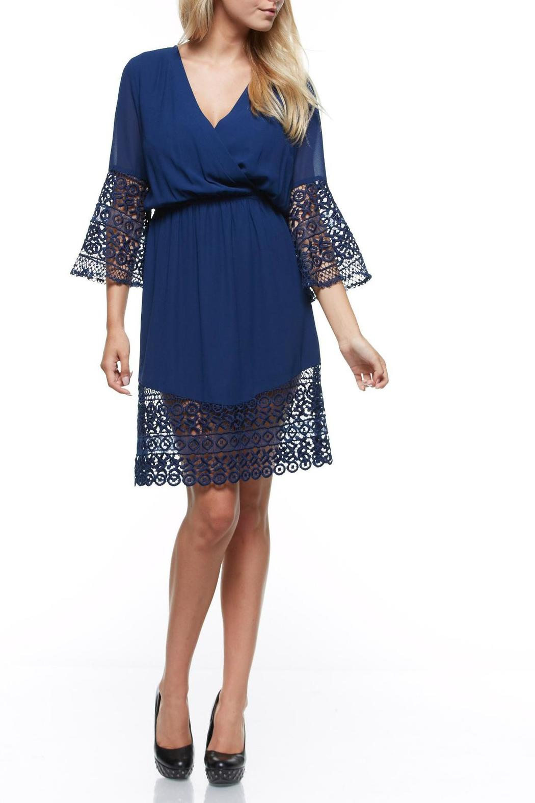 The Clothing Co Short Blue Dress - Front Cropped Image