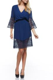 The Clothing Co Short Blue Dress - Product Mini Image