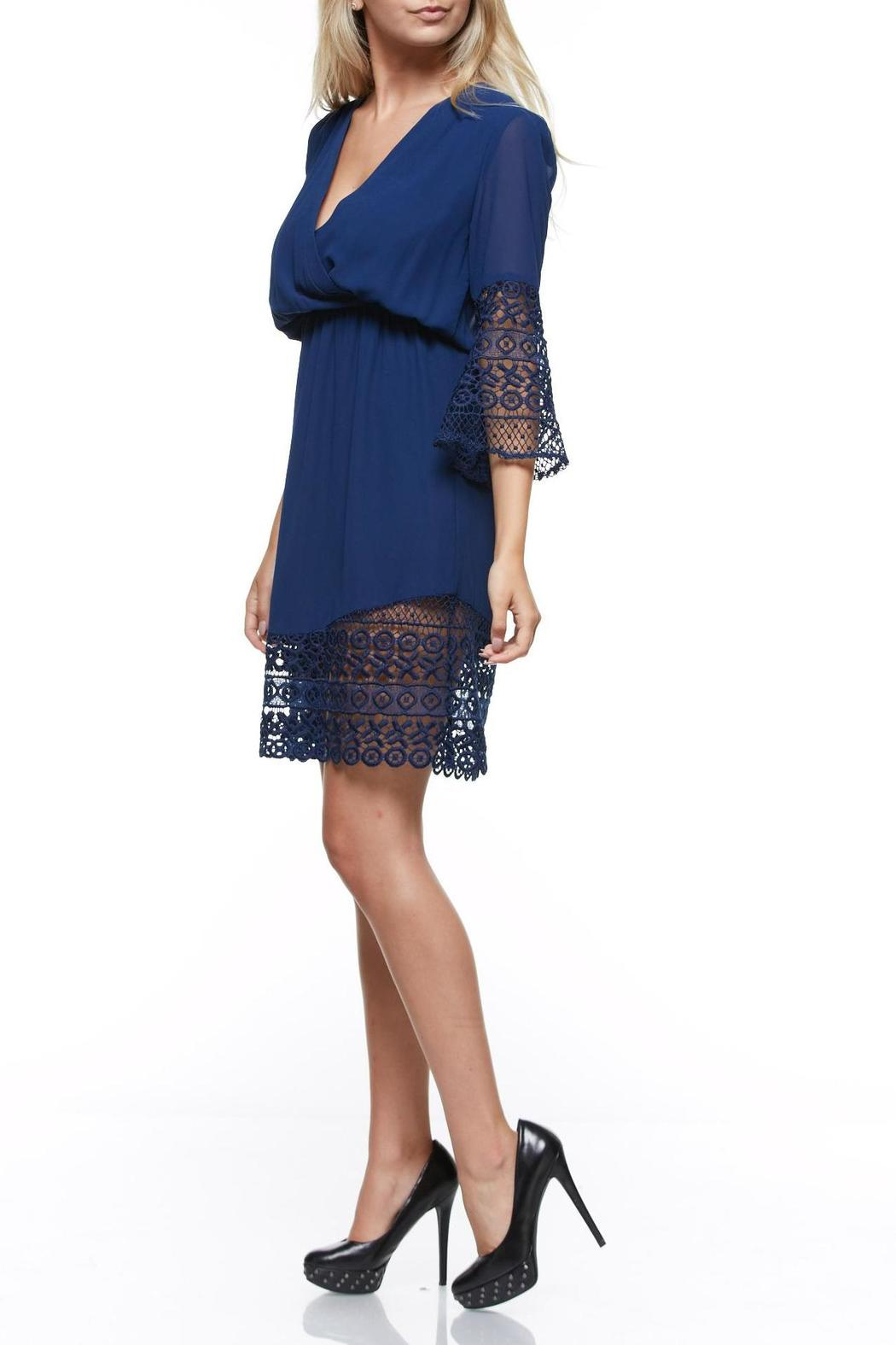 The Clothing Co Short Blue Dress - Side Cropped Image