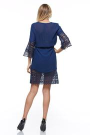 The Clothing Co Short Blue Dress - Back cropped