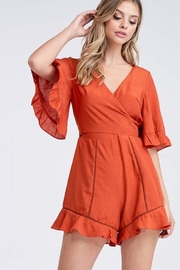 The Clothing Co Solid Wrapped Romper - Front full body