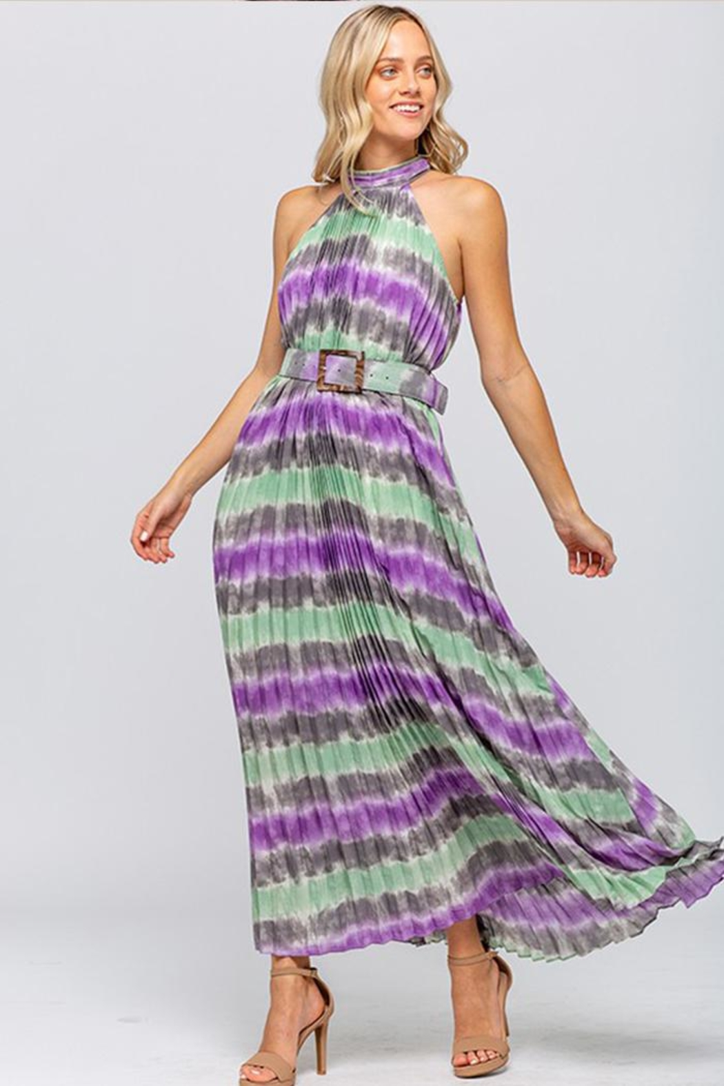 The Clothing Co Tie-Dye Maxi Dress - Front Full Image