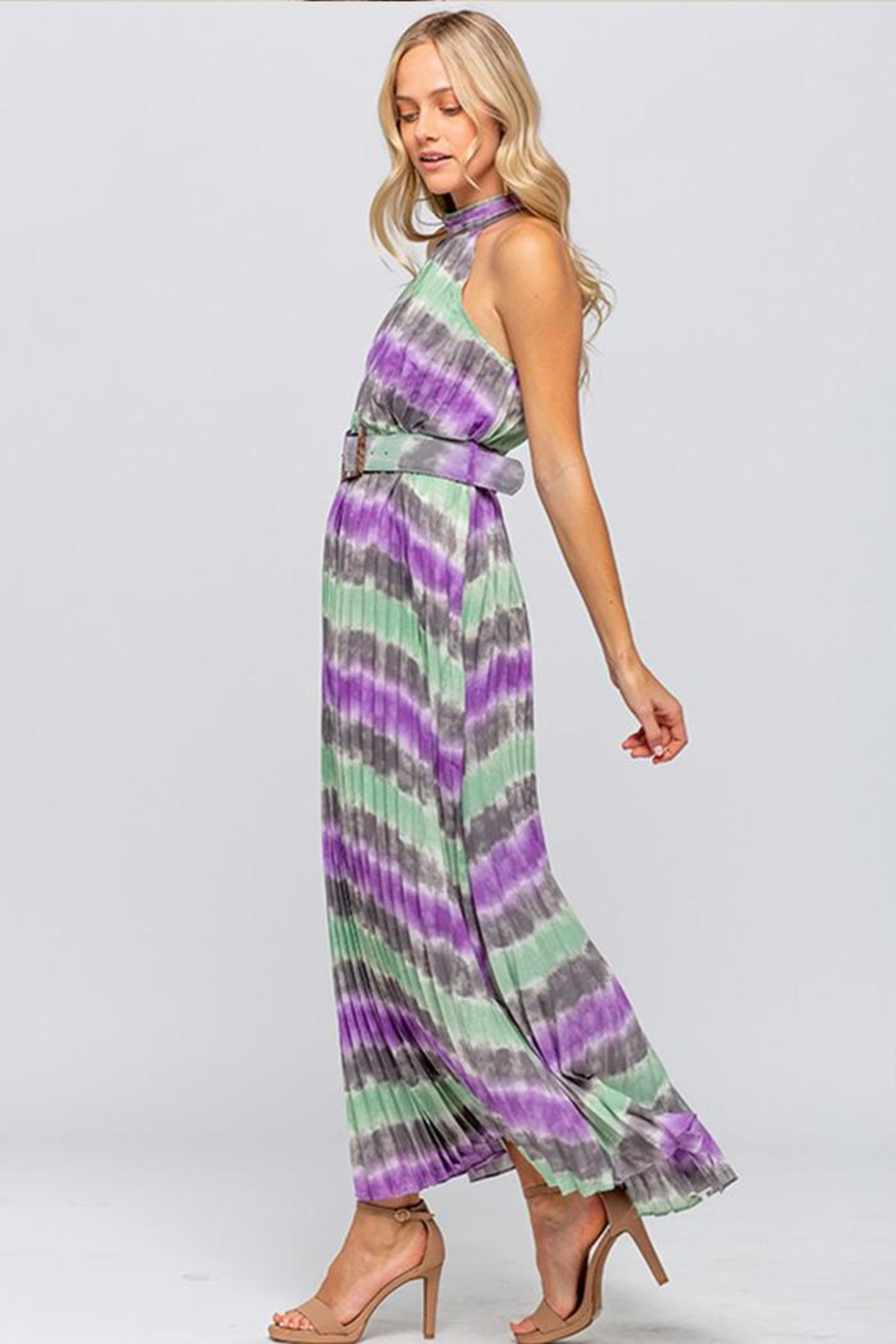 The Clothing Co Tie-Dye Maxi Dress - Side Cropped Image