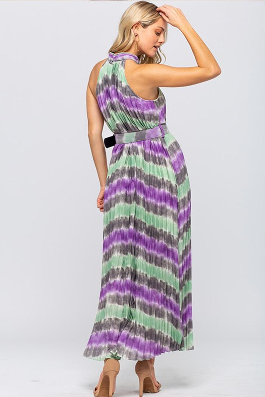The Clothing Co Tie-Dye Maxi Dress - Back Cropped Image