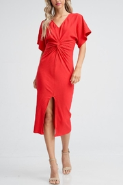 The Clothing Co Twist Front Dress - Front cropped
