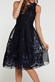 the clothing company Dreamy Navy Dress - Product Mini Image
