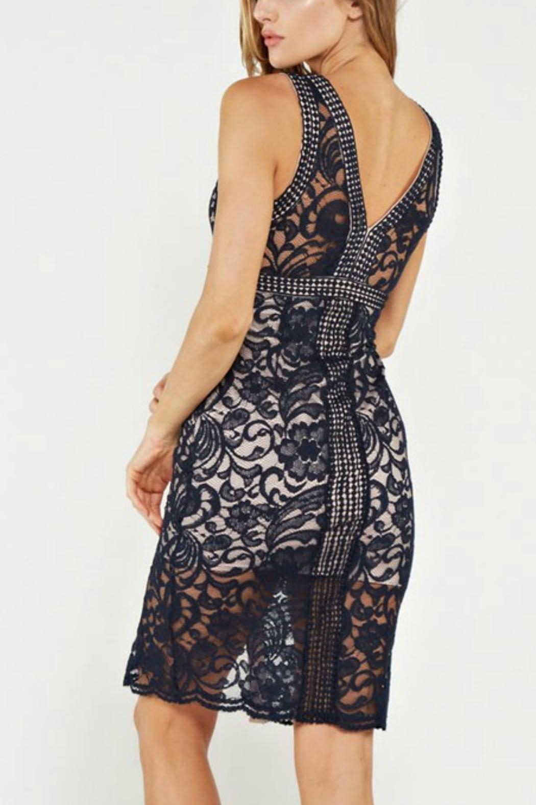 the clothing company Lace Midi Dress - Front Full Image