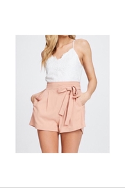 the clothing company Lace Romper - Front cropped
