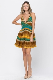 the clothing company Multicolored Mini Dress - Front cropped