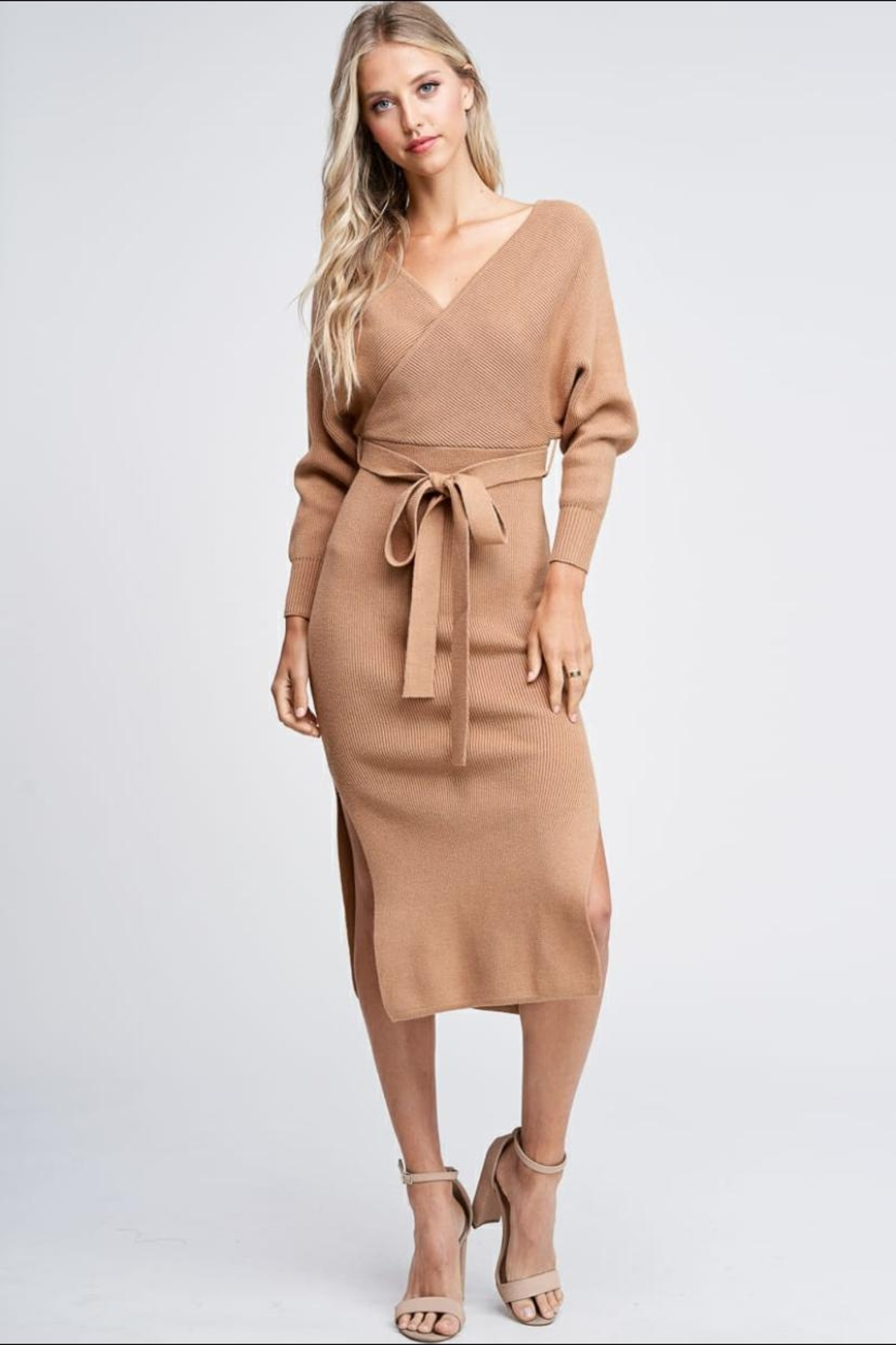 the clothing company Sweater Midi Dress - Front Cropped Image