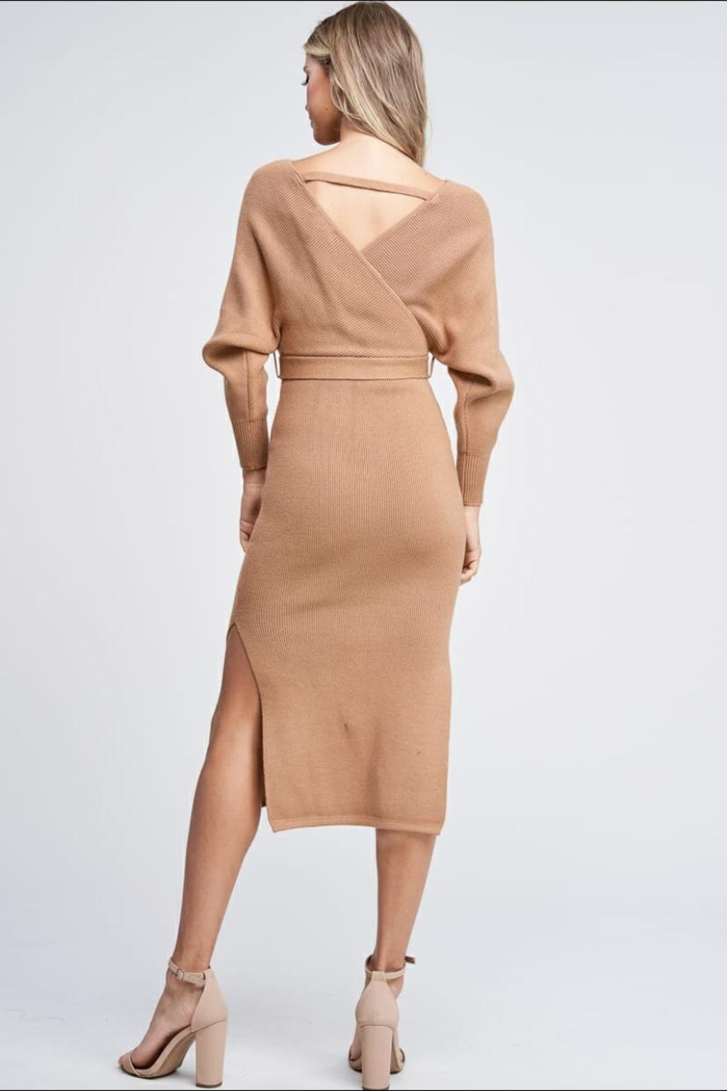 the clothing company Sweater Midi Dress - Back Cropped Image