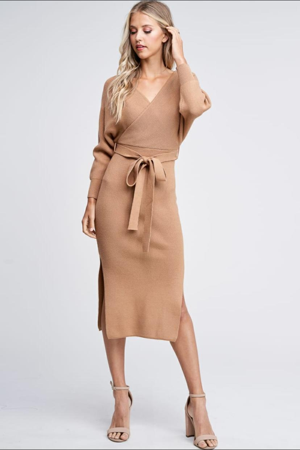 the clothing company Sweater Midi Dress - Front Full Image