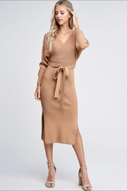 the clothing company Sweater Midi Dress - Front full body