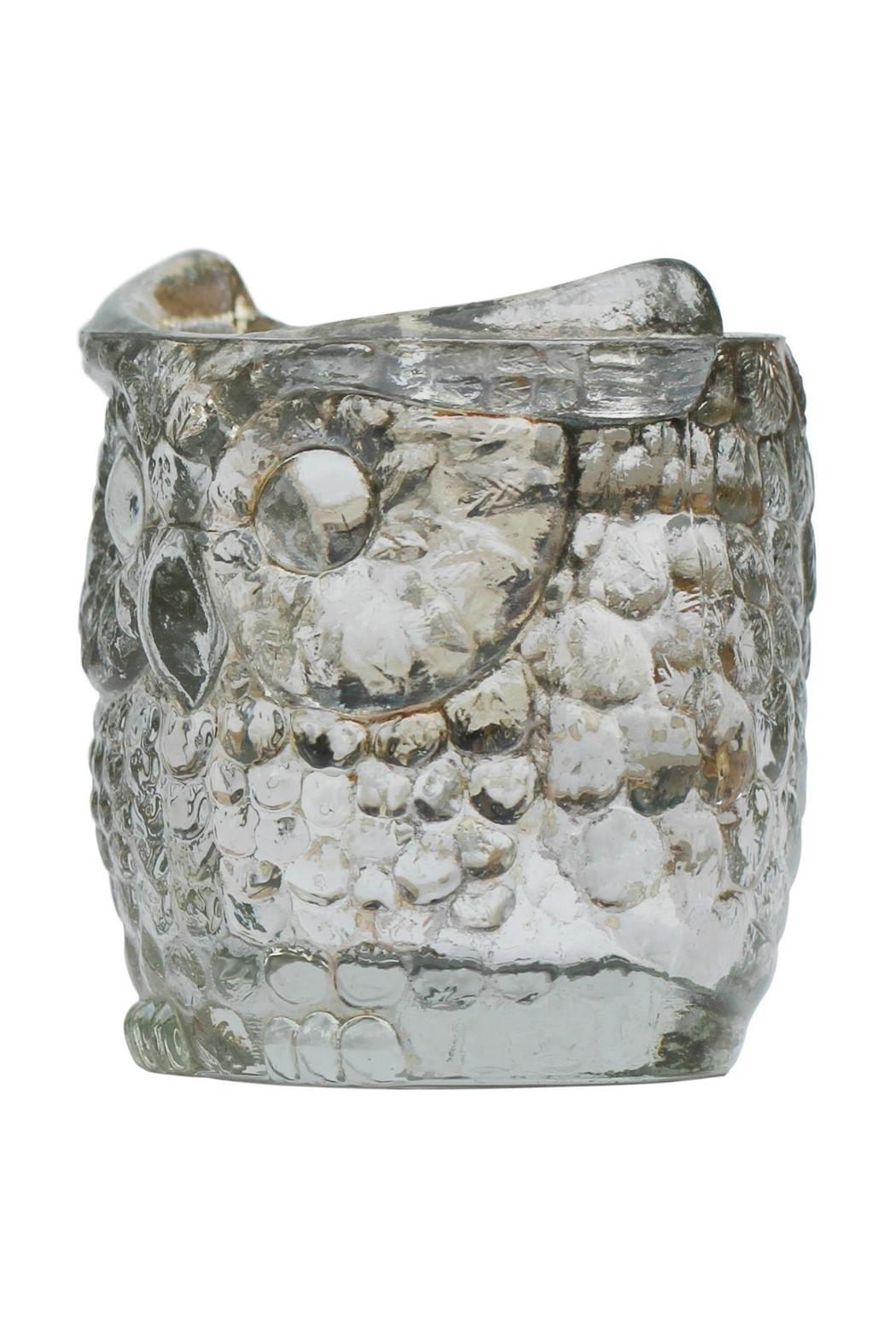 The Country House Collection Glass Owl Votive - Side Cropped Image