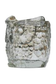 The Country House Collection Glass Owl Votive - Side cropped