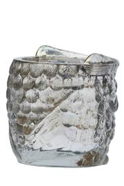 The Country House Collection Glass Owl Votive - Back cropped