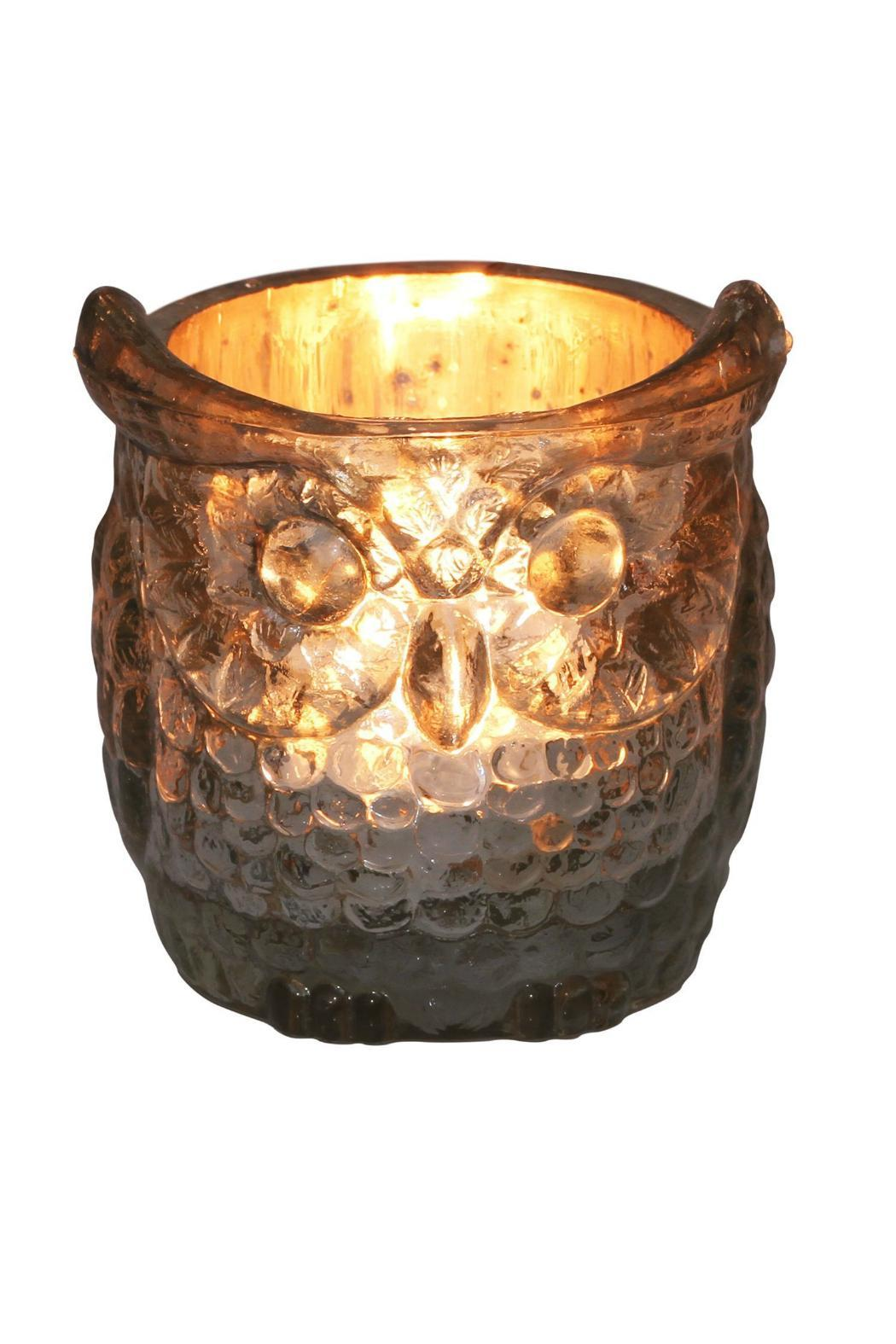 The Country House Collection Glass Owl Votive - Front Cropped Image