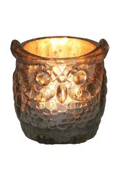 The Country House Collection Glass Owl Votive - Front cropped