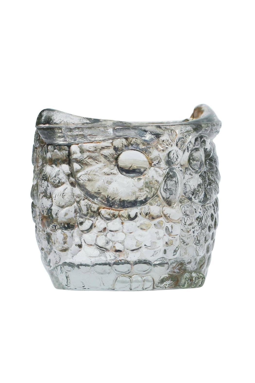 The Country House Collection Glass Owl Votive Large - Back Cropped Image