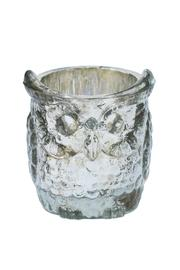 The Country House Collection Glass Owl Votive Large - Front full body