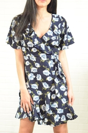 The Diva Dress Floral Wrap Dress - Front full body