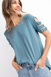 The Dressing Room 3-Strap Cold Shoulder - Product Mini Image