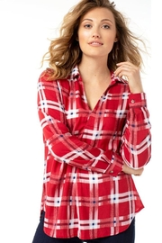 The Dressing Room Abstract Red Plaid - Back cropped