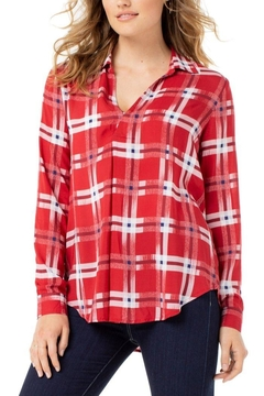 The Dressing Room Abstract Red Plaid - Product List Image